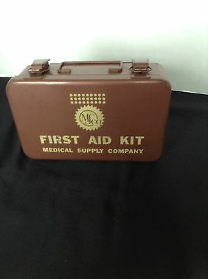 Vintage MS co First Aid Kit Box in Good Condition!