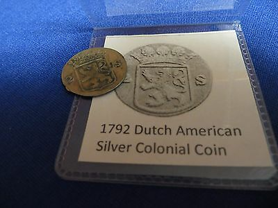 1792 Silver Early American Colonial Coin Before US Minted Coins 224 Years Old
