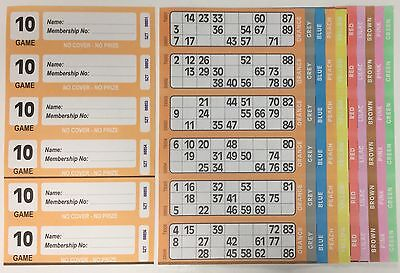 1500 10 Page Games Xl Bingo Tickets Similar To Jumbo In Size & Quality Free Item