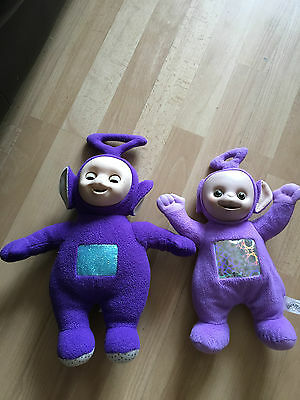 Teletubbies Tinky Winky Soft Plush Toys 14'' And 12''