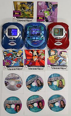 LOT Video Now Color FX Player, 2 Color Players + 11 PVD Discs Batman,Nickelodeon
