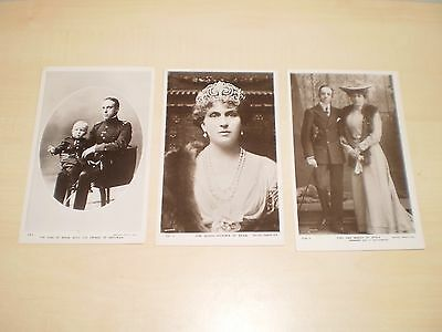 c1910 Three Real Photo Postcards Of Spanish Royal Family By Rotary King&Queen
