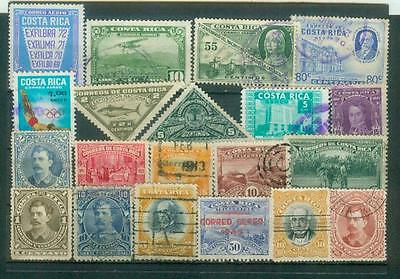 Lot Briefmarken aus Costa Rica