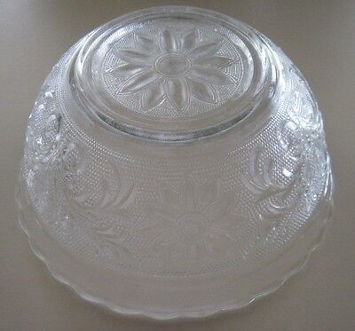 Vtg Lot 2 Double Sandwich Glass Nested Mixing Bowls Scalloped Rim Anchor Hocking