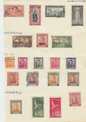 A very nice old unused & used New Zealand page with Official