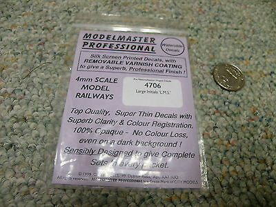 Modelmaster decals OO #4706 Large initials LMS   L102