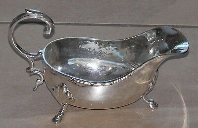 Victorian Silver Plated Sauce Boat Georgian Style