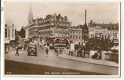 Dorset The Square Bournemouth Real Photo Vintage Postcard 23.5.2