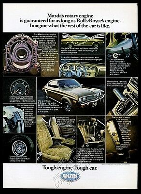 1975 Mazda RX-4 car rotary engine photo vintage print ad