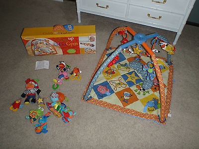 Infantino Giddy Up & Go Activity Gym Baby Play Mat And Toys Lot EUC