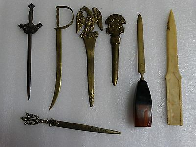 Lot Vintage Antique Letter Openers