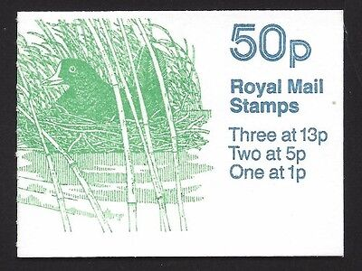 Great Britain 1986 50p Moorhen & Little Grebe booklet SG# FB35 NH