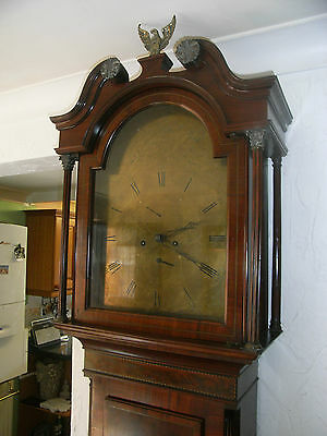 Beautiful Inlaid Mahogany Longcase Clock Mitchell & Russell Glasgow. Grandfather