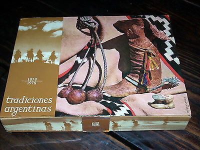 Rare Vintage Argentina Matchbox Collection Argentina Traditions 1878-1978 Gaucho