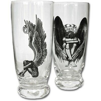 Spiral Angels Water Glass Set Of 2