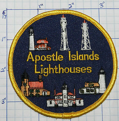 Wisconsin, Apostle Islands Lighthouses Lake Superior Souvenir Patch