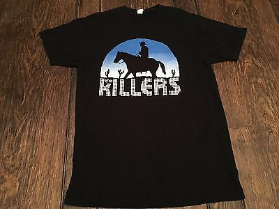 The KILLERS mens M medium black shirt alternative indie post punk new wave WOW ~
