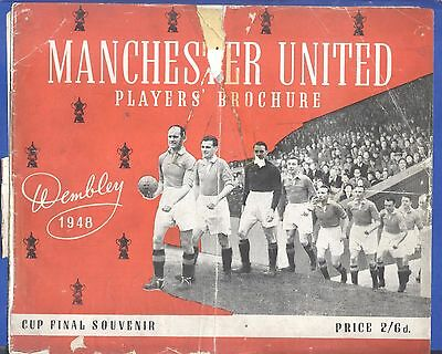 Manchester United FA Cup Final 1948 PLAYERS' BROCHURE