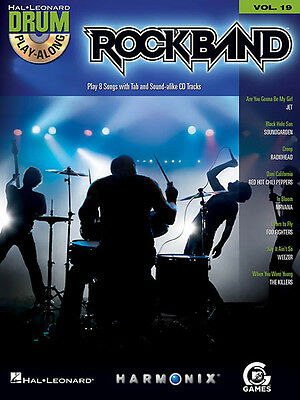 Rock Band Video Game Songs Drum Play-Along Vol 19 Sheet Music Book CD Pack NEW