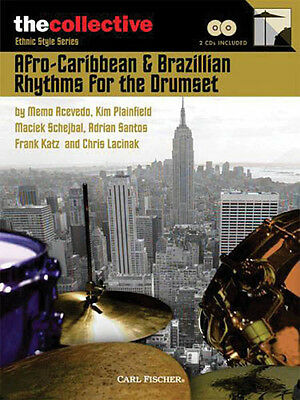 Afro-Caribbean & Brazilian Rhythms for Drums Lessons Play-Along Book CD Pack NEW