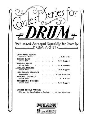 Robert W Buggert Rolling Accents Snare Drum Solo Rubank Contest Sheet Music NEW