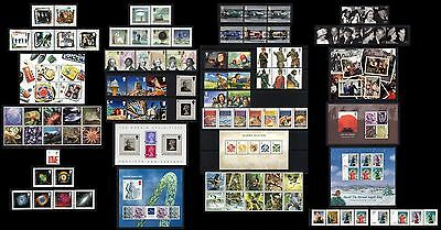 GB 2007. COMPLETE YEAR OF 13 SETS OF COMMEM. STAMPS + 7 MS'S. MNH. FACE £83.96p