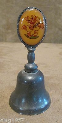 Donald Daisy Duck Disney New England Collector's Society Glass Silver Bell NE