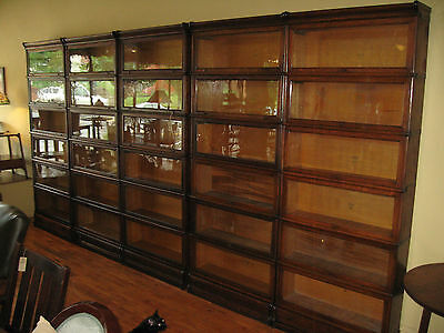 5 Original Oak Macey 6 Stack Barrister Bookcases Arts &Crafts Early w/Drawers