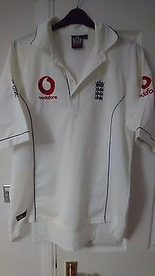 ENGLAND Retro Cricket Jersey White Test Shirt Large Top Retro L Admiral ECB