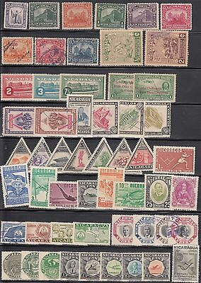 Nicaragua Mini Country Collection Of 70 Mostly Used Stamp Issues.