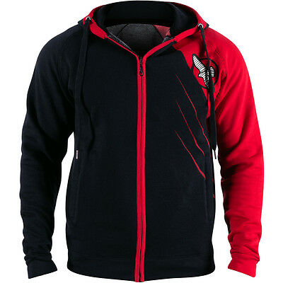 Hayabusa Recast Series Athletic Fit Zip-Up Hoodie - Small - Black/Red