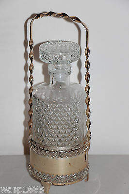 Glass Sherry Bottle with Holder Detailed Pics