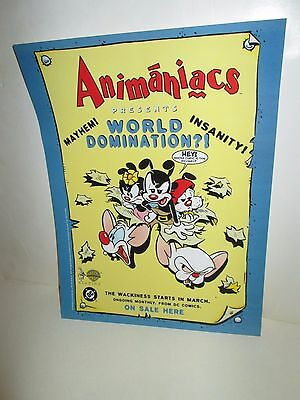 The Animaniacs Present World Domination Sell Sheet  Comic Book Store Ad Poster