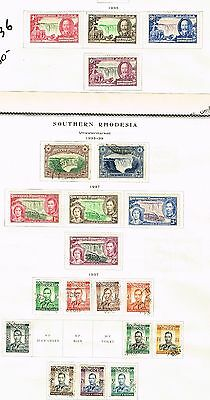 Southern Rhodesia 33-36 Etc  Vf Mh And Used  (Mrc29