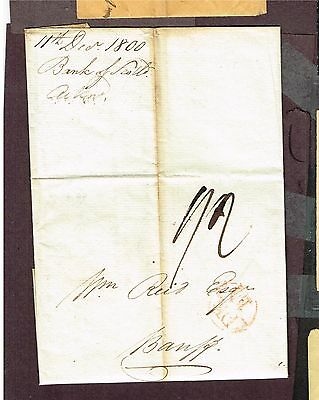 Stampless From Bank Of Scotland To Banff? 1800  (Aym21