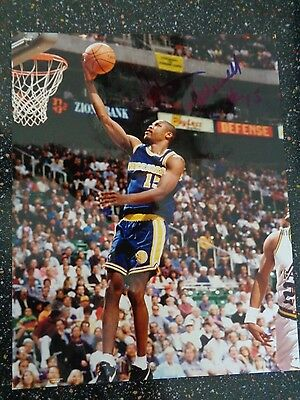 Latrell Sprewell  Autographed  Signed  8 X 10  Photo
