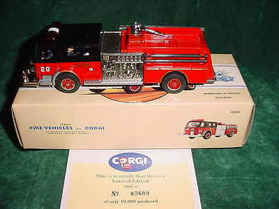 Gift Corgi Classics La France Chicago Fd Fire Truck Collectible Die-Cast Models