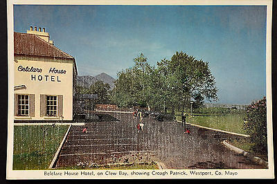 Irish Postcard ~ Mayo ~ Belclare House Hotel on Clew Bay, Westport