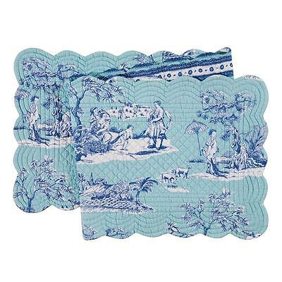 Williamsburg Collection Hampstead Toile Cotton Table Runner ~ Quilted