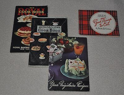 Vintage recipe booklets - lot of four