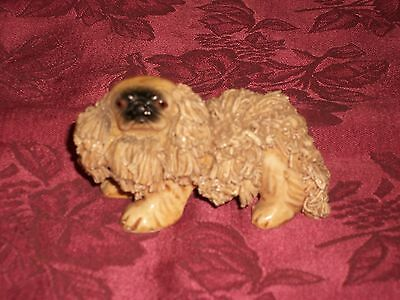 Vintage China Pottery Spaghetti Porcelain Pekingese Puppy Dog Figurine