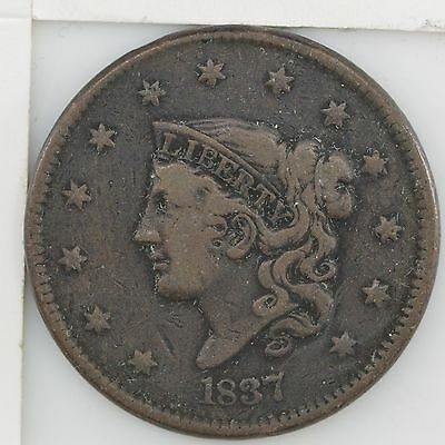 "1837 Matron Head Large Cent, ""Young Head"" *026"