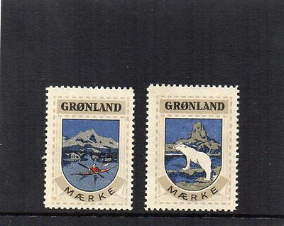 Greenland 1940 Cinderella Stamps / Vignettes. Set Of 2 Um/mnh Vf.