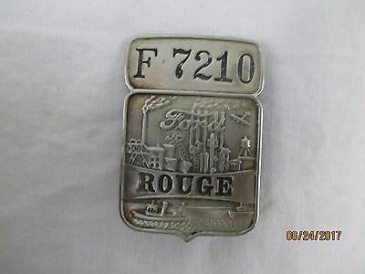 Vintage Ford Motor Co. Rouge Plant Employee Badge