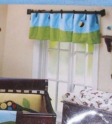 NEW NoJo CRITTER BABIES Window VALANCE Applique Bumble BEE Bug Blue Green