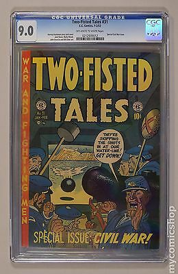Two Fisted Tales (1950 EC) #31 CGC 9.0 0212939012