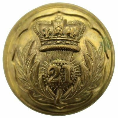 VICTORIAN 21st Regiment of Foot Royal Scots Fusiliers OFFICERS Button 25mm BB79