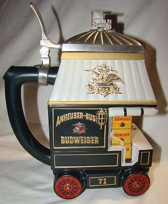 Budweiser Stein 1998 Early Delivery Days CB8 #7402 Anheuser Busch Members Only