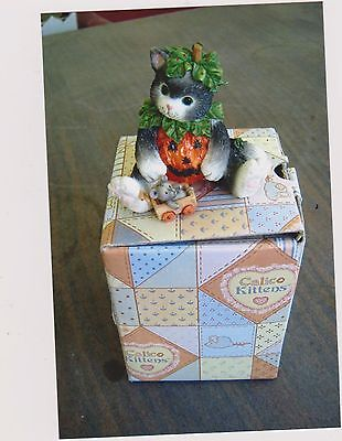 1996 Calico Kittens We've Carved A Perfect Friendship Figurine With Box