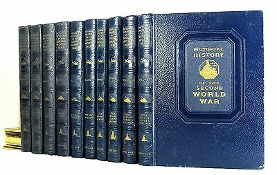 Pictorial History Of The Second World War Ten Volume Set Illustrated 1944 1St Ed